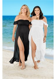 Alternate View Ruffle Sleeve Maxi Cover-Up