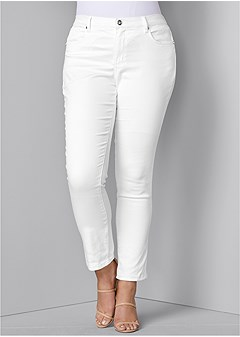 9d31acdd3b6 plus size color skinny jeans
