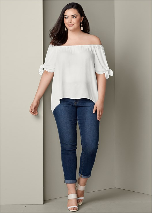 COLOR SKINNY JEANS,COLOR BLOCK MULES