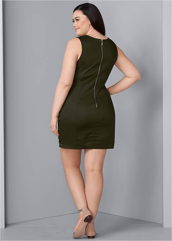 Back View Lace Up Side Mini Dress