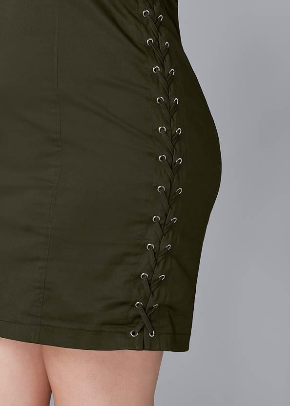 Alternate View Lace Up Side Mini Dress