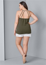 Back View Strappy Detail Top