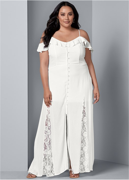 8d1c3483604 Plus Size COLD SHOULDER MAXI DRESS | VENUS