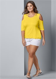 Alternate View Strappy Cold Shoulder Top