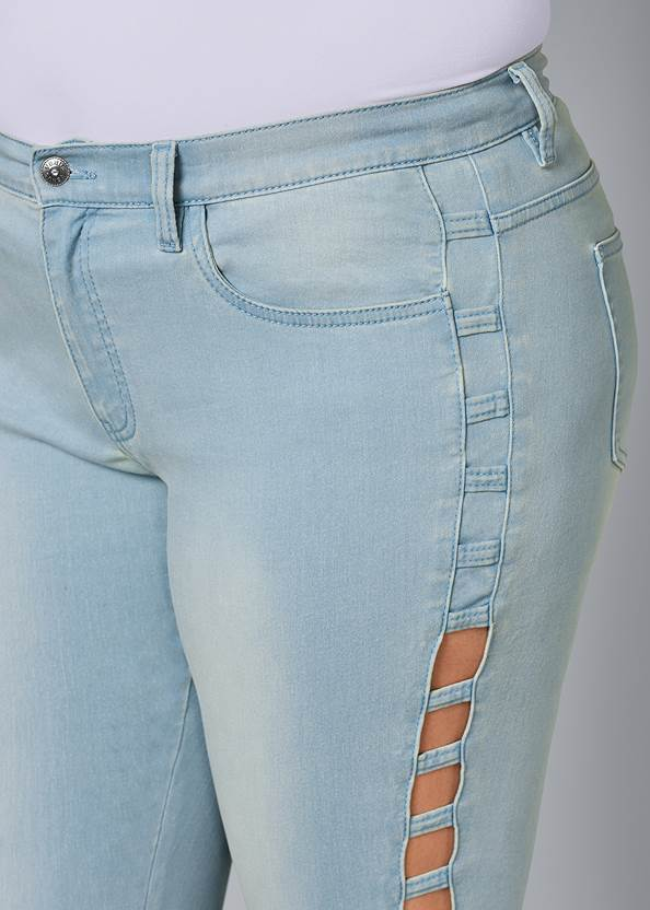 Alternate View Cut Out Detail Jeans