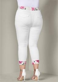 Back View Floral Detail Pants