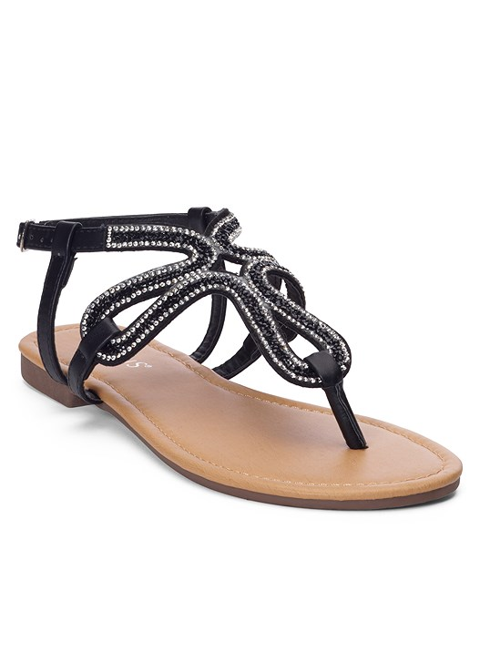 dc40be5f350 Black EMBELLISHED SANDAL from VENUS