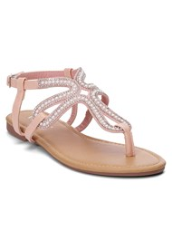 Front View Embellished Sandals