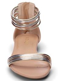 Alternate View Metallic Strap Sandals