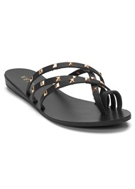 Front View Studded Strappy Sandals