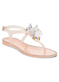 Embellished Jelly Sandals