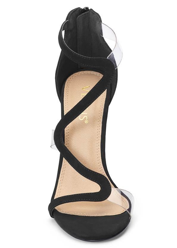 Alternate View Asymmetrical Strappy Heels