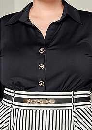 Alternate View Mixed Media Bodycon Dress