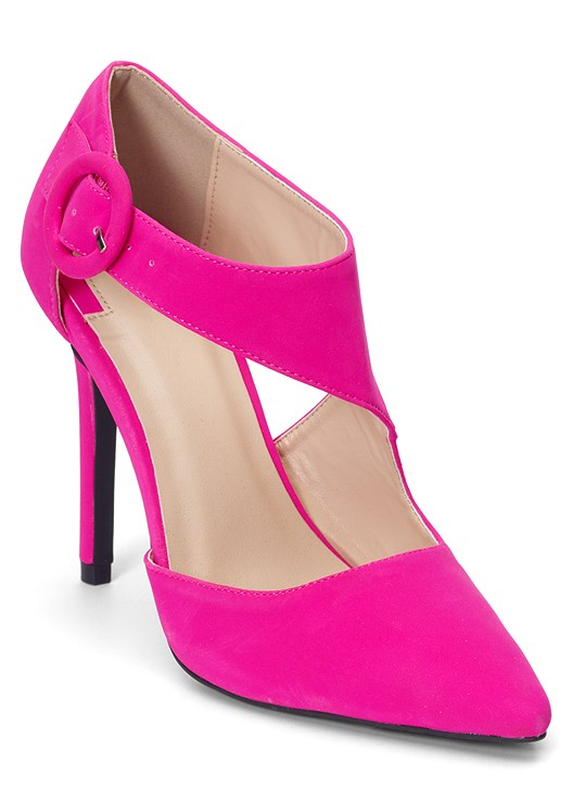 CROSS STRAP PUMPS