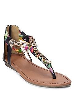 embellished rope sandals