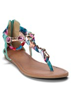 embellished rope sandals