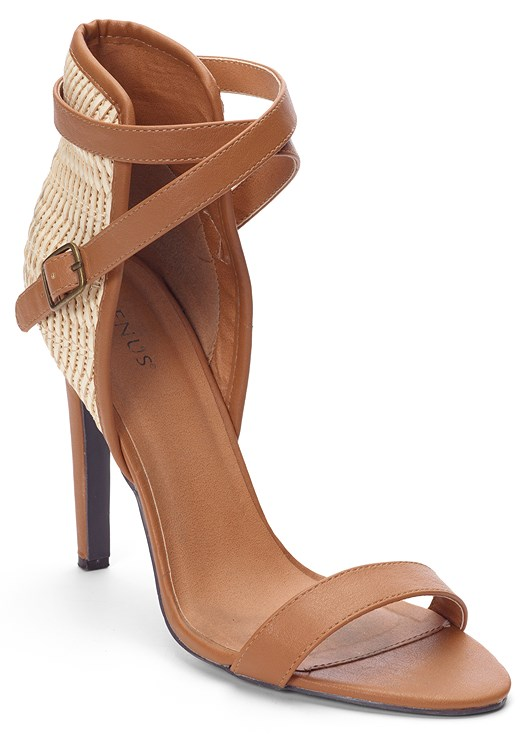 RAFFIA DETAIL HEEL,CUT OUT MINI DRESS