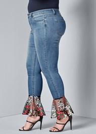 Alternate View Lace Detail Jeans