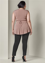 Back View Embellished Waistband Top