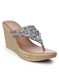 SIDE VIEW Embellished Wedges