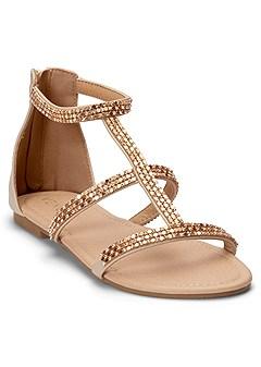 embellished strappy sandals