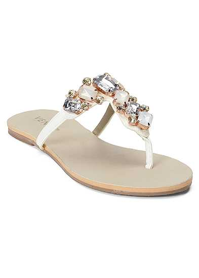 Multi Color Stone Sandals