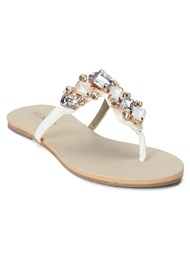 Front view Multi Color Stone Sandals