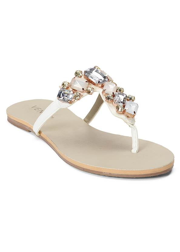 Multi Color Stone Sandals