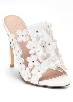 flower detail heels