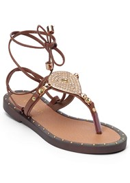 Front view Lace Up Gladiator Sandals