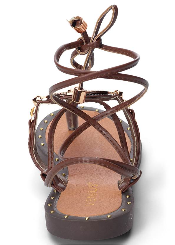 Back View Lace Up Gladiator Sandals