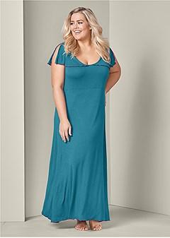 plus size long sleep dress