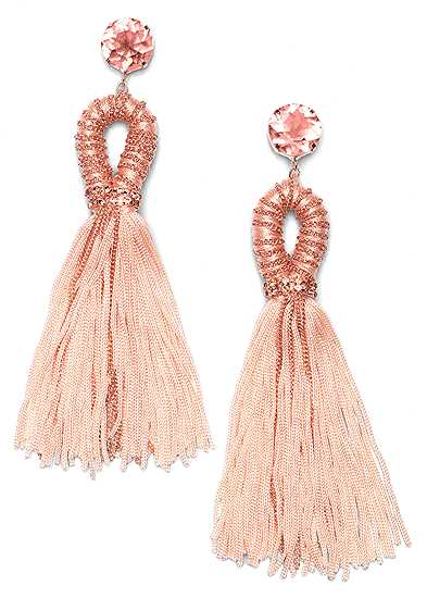 Embellished Tassel Earrings