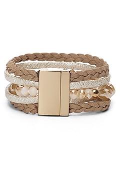 mixed braided bracelet