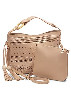 perforated handbag