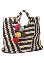 Alternate View Striped Straw Tote