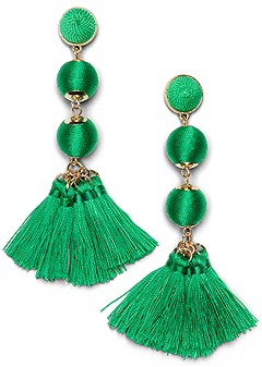 bauble fringe earrings