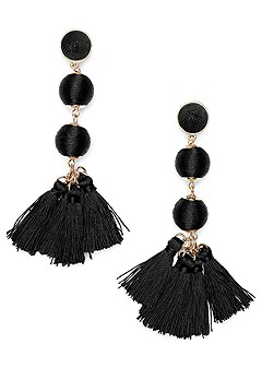 bauble fringe earrings