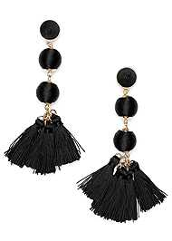 Front View Bauble Fringe Earrings