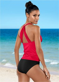 Front View Smoothing V-Back Tankini Top