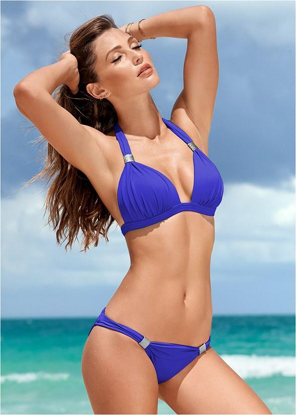 Goddess Low Rise Bottom,Goddess Enhancer Push Up Halter Top,Triangle String Bikini Top,Full Coverage Bra Top