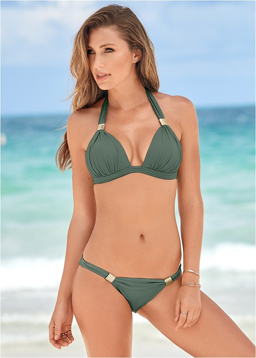 971acadbea59f Army Green GODDESS ENHANCER PUSH UP Bikini