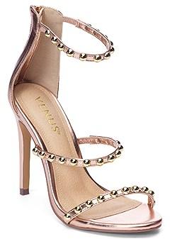 studded strappy heel