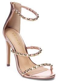 Front View Studded Strappy Heels