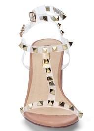 Alternate View Transparent Studded Heels