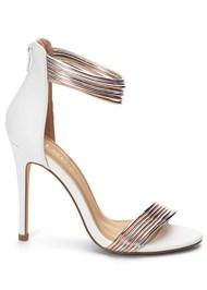 Alternate View Metallic Strap Heels