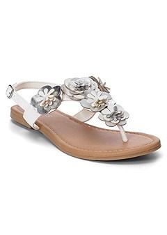 multi flower sandals