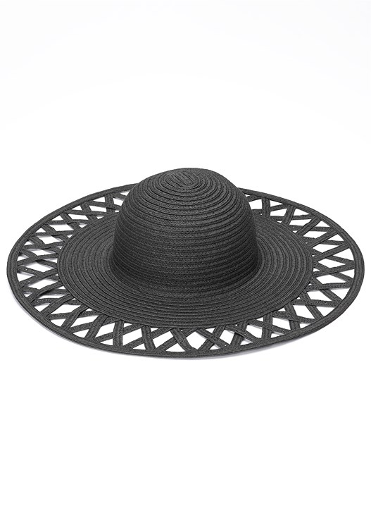 CRISSCROSS BRIM FLOPPY HAT