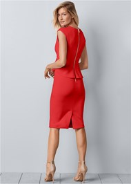 Back View Bow Detail Bodycon Dress