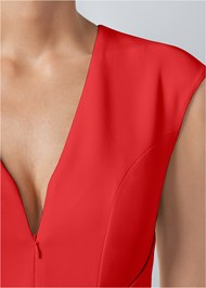 Alternate View Bow Detail Bodycon Dress